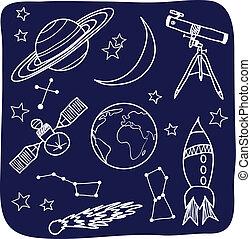 Astronomie - Raum und Nachthimmel Objekte.