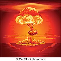 Atomexplosionspilzwolke