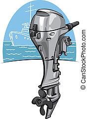 Außenbordbootmotor