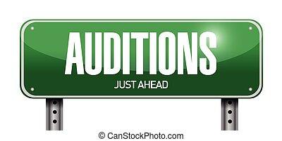 auditions, design, abbildung, zeichen