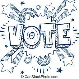 Aufgeregt wegen der Abstimmungszeichnung