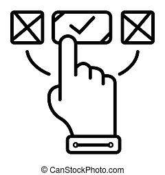 aufträge, online, ikone, vektor