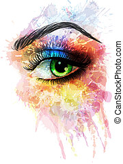 Augen aus bunten Platschen