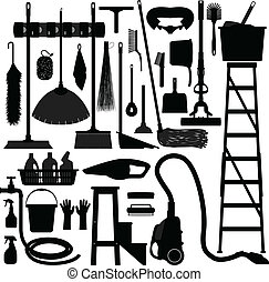 ausrüstung, haushalt, inländisch, werkzeug