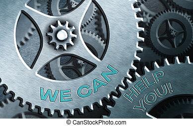 ausstellung, angebot, kunden, text, wir, guten, friends., begrifflich, zeichen, foto, you., hilfe, oder, unterstützung, buechse