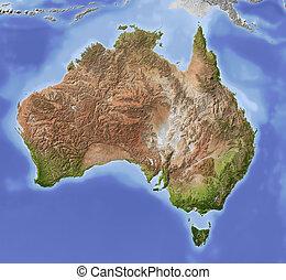 Australien, abgeschirmte Landkarte