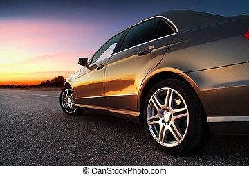 auto, rear-side, ansicht