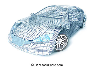 Autodesign, Drahtmodell