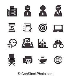 Büro-Icon-Set.