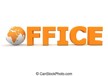 Bürowelt orange