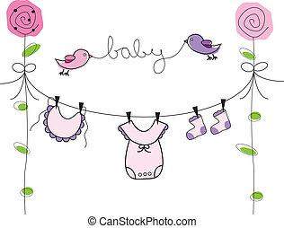 Baby-Mädchen-Kleidung