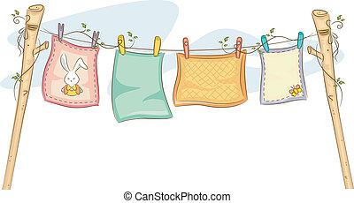 Babydecken aufhängen