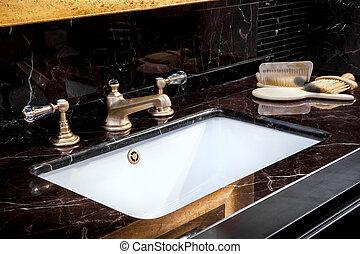 badezimmer, bbath, sinken