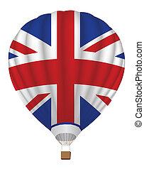 Ballon mit der Flagge des Vereinigten Königreichs