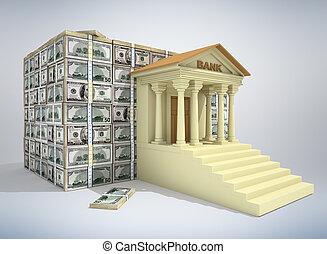Bankkonzept 3D