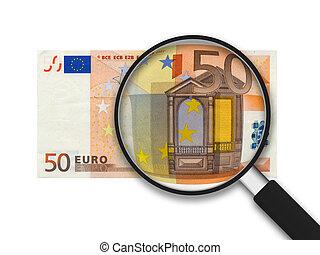 banknote, euro, 50