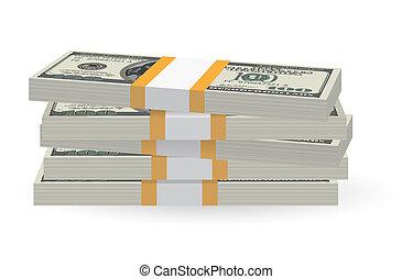 Banknoten stapeln.