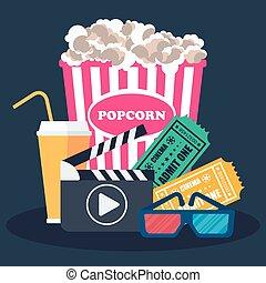 banner, clapperboard, sinema