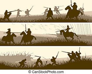 Banner der mittelalterlichen Schlacht.
