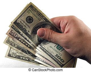 bargeld, hand
