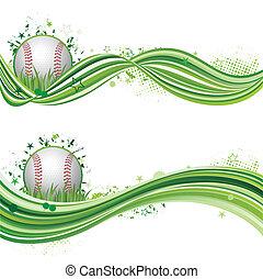 baseball, sport, entwerfen element