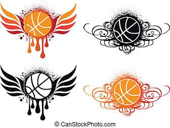 Basketball abbrechen, Vektor
