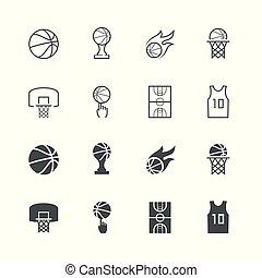Basketball-Vektor-Ikone eingestellt.