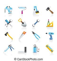 Bau- und Bauwerkzeug