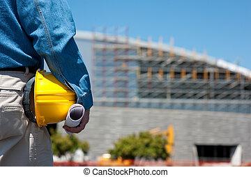 Bauarbeiter oder Vorarbeiter auf der Baustelle
