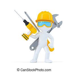 Bauarbeiter/Builder mit Werkzeugen