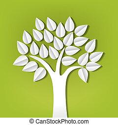 Baum aus Papier herausgeschnitten