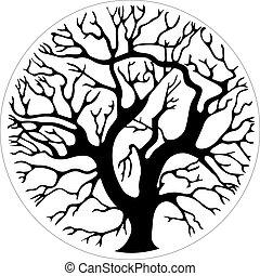 Baum im Kreis.