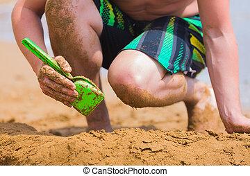 Beach Fun im Sand.