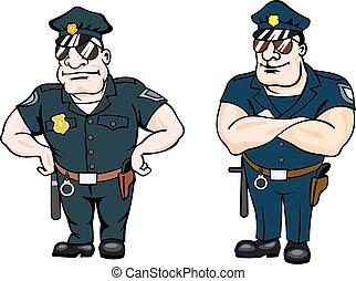 Beefy entschlossene Polizeibeamte.