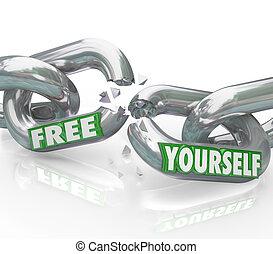 Befreit euch selbst Ketten, die freie Links brechen