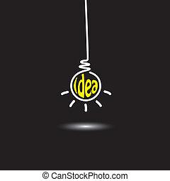begriff, abstrakt, hängender , idee, erfinderisch, innovativ, lösen, genie, -, kreativer verstand, schwarzer mann, klug, denken, hintergrund, zwiebel, icon., vertritt, grafik, dieser, licht, auch, gedanke, vektor, problem