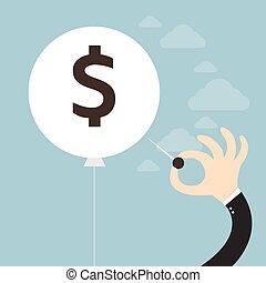 begriff, finanziell, krise