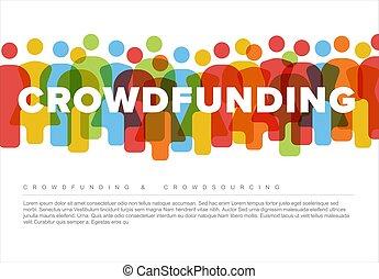 begriff, gemacht, heiligenbilder, einfache , crowdsourcing, leute
