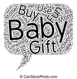 begriff, geschenk, text, ideen, dusche, wordcloud, hintergrund, baby, am besten