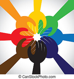 begriff, leute, gemeinschaftsarbeit, gelübde, versprechen, gruppe, -, auch, kreis, einheit, hände, solidarität, vertritt, versprechen, grafik, dieser, nehmen, engagement, vektor, icon., freundschaft, oder