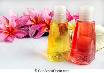 begriff, &, wohlfühlen, tropische , aromatherapy, blume, plumeria, spa