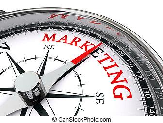 begrifflich, marketing, wort, kompaß