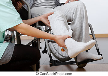 Behinderte Rehabilitation.