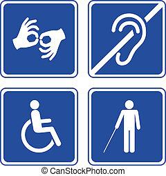 Behinderte Zeichen.