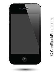Benutzen Sie den Smartphone Vektor