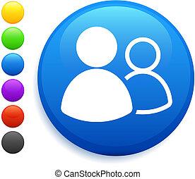 Benutzergruppe Icon im Internet-Knopf