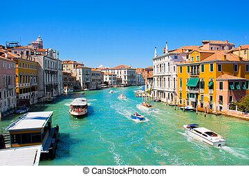 Berühmter Kanalrand in Venice, Italien