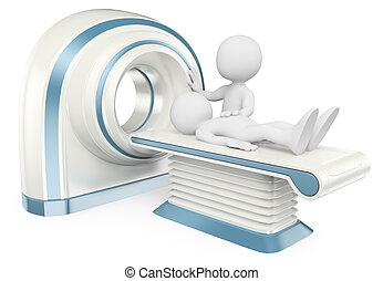 berechnet, leute., tomography., weißes, ct, 3d