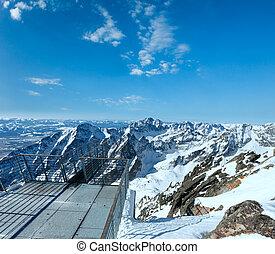 berg, winter, landschaft.
