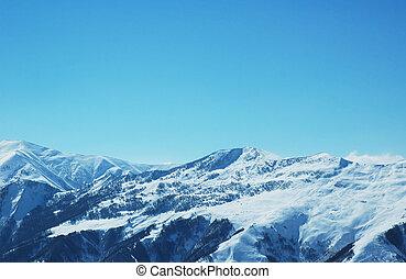 berge, winterlandschaft, schnee